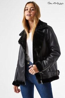 Miss Selfridge Longline Aviator Jacket