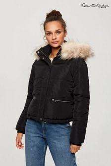 Miss Selfridge Hood Zip Pocket Padded Jacket