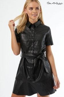 Miss Selfridge Pu Shirt Dress