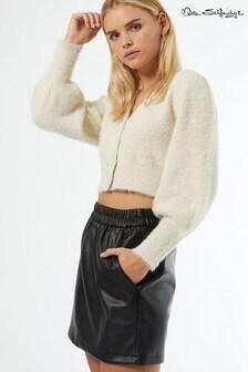 Miss Selfridge Elasticated PU Skirt