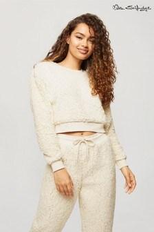 Miss Selfridge Crop Teddy Sweatshirt