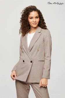 Miss Selfridge Check Double Blazer