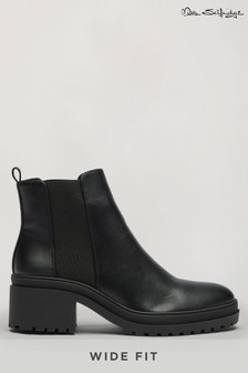 Miss Selfridge Wide Fit Bang Chunky Chelsea Boot