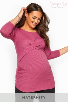 Bump It Up Maternity Ribbed Front Twist Top