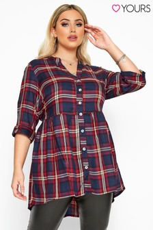 Yours Curve Check Smock Shirt