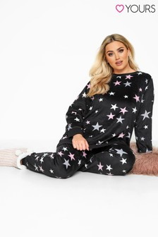 Yours Curve Star Fleece Lounge Set