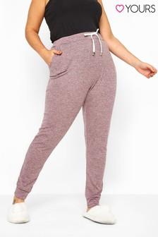 Yours Curve Marl Jersey Lounge Pants