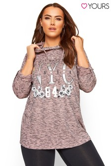 Yours Curve Lightweight Hoodie