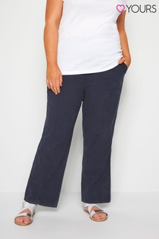 Yours Curve Front Wide Leg Trouser