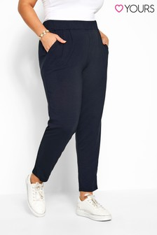 Yours Curve Doubled Pleated Harem Trousers