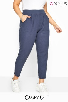 Yours Curve Tapered Midi Trouser
