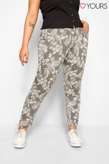 Yours Curve Double Pleated Harem Trouser
