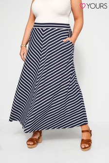 Yours Curve Chevron Maxi Skirt