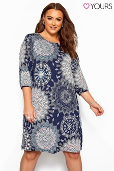Yours Curve Geo Sleeve Shirt Dress