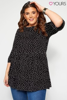 Yours Curve Three-Quarter Sleeve Top