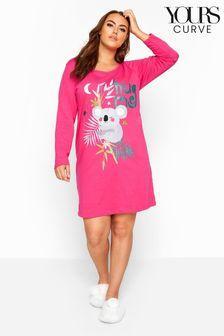 Yours Curve LS Koala Nightdress