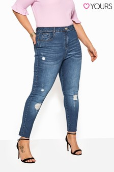 Yours Curve Rip Knee Jeans
