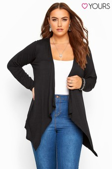Yours Curve Waterfall Cardigan
