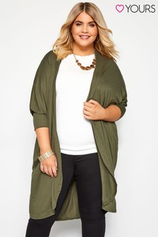 Yours Curve Long Cocoon Cardigan