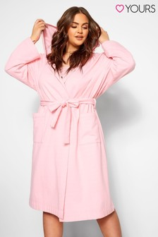 Yours Curve Brushed Back Lightweight Robe