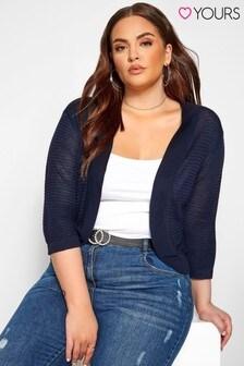 Yours Curve Stitch Detail Bolero Jacket
