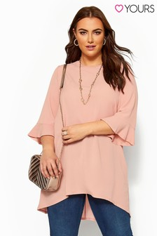 Yours Curve Fluted Sleeve Tunic