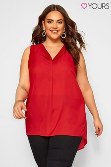 Yours Curve Lapel Shell Top