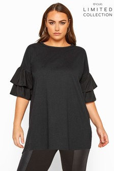 Yours Limited Collection Poplin Drop Shoulder Angel Sleeve Top