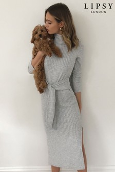 Lipsy Cosy Rollneck Tie Dress