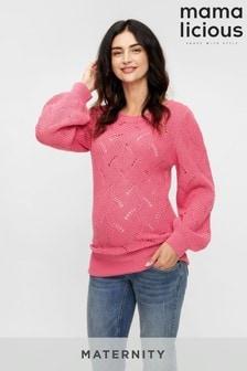 Mamalicious Maternity Puff Sleeve Knitted Jumper