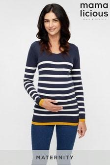 Mamalicious Maternity Stripe Jumper