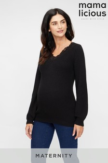 Mamalicious Maternity Lace Detail Jumper