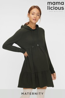 Mamalicious Maternity Lounge Hoodie Dress