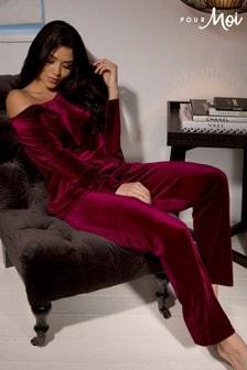Pour Moi Velour Pyjama Set