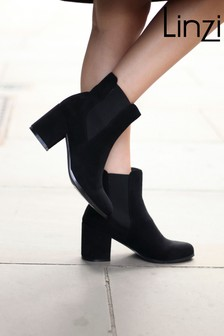 Linzi Dua Block Heel Pull On Chelsea Boot