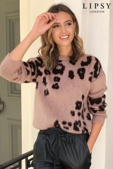 Lipsy Animal Print Knitted Jumper