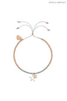 Estella Bartlett Double Star Liberty Bracelet with Purple Iridescent Miyuki Beads