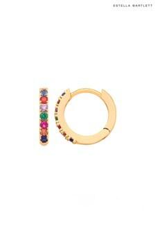 Estella Bartlett Multicoloured Pave Hoop Earrings