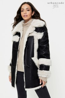 Urban Code Studio Shearling Reversible Aviator Coat