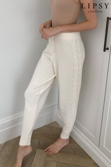 Lipsy Cable Lounge Knitted Jogger