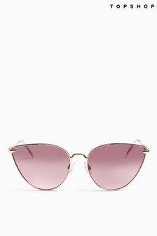 Topshop Phoenix Metal Rim Sunglasses