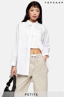 Topshop Petite Plain Poplin Shirt