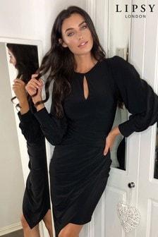 Lipsy Long Sleeve Slinky Bodycon Dress