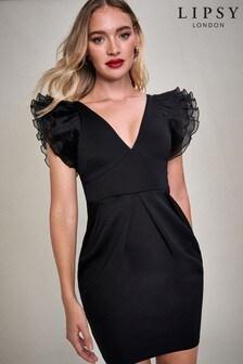 Lipsy Ruffle Trim Mini Dress