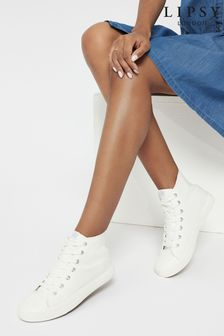 Lipsy High Top Lace Up Canvas Trainer