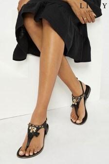 Lipsy Chain Tassel Flat Sandal