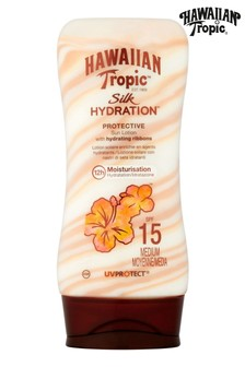 Hawaiian Tropic Silk Hydration Protective Sun Lotion with Hydrating Ribbons SPF 15 180ml