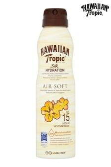 Hawaiian Tropic Silk Hydration Air Soft Sun Lotion Continuous Spray SPF 15 177ml