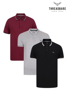Threadbare Polo Tops Pack Of 3