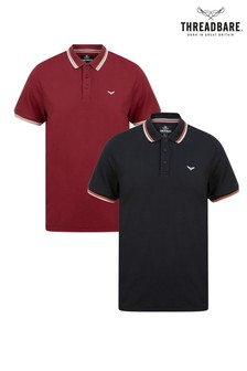 Threadbare Polo T-Shirt - Pack Of 2